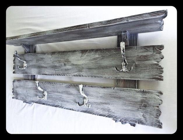Garderoben - SHaBBy ViNTaGe Garderobe RuSTiKaL mit Hutablage - ein Designerstück von CoSaMuNDo bei DaWanda