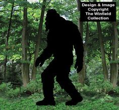 bigfoot+silhouette | 1707 bigfoot shadow woodcraft pattern new reported bigfoot sightings ...