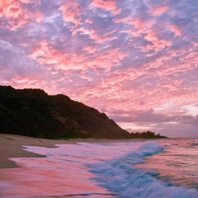 Looks like cotton candy!: Hawaii Beaches, Oahu Hawaii, Gods Beauty, Beauty Sunri, Beauty Place, Beauty Hawaii, Beaches Pink, Hawaii Pictures, Heavens