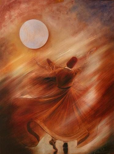 """The sufi opens his hands to the universe and gives away each instant, free. Unlike someone who begs on the street for money to survive, a dervish begs to give you his life."" —Rumi ..*"