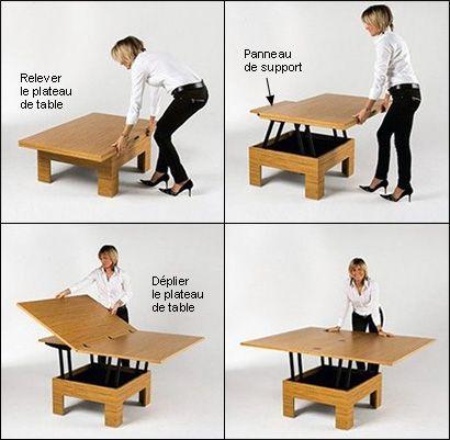 Mécanisme pour table basse convertible - Quincaillerie