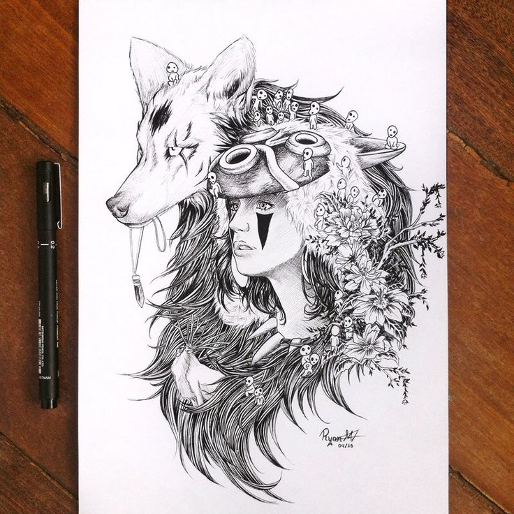 Princess Mononoke fan-art                                                                                                                                                                                 More