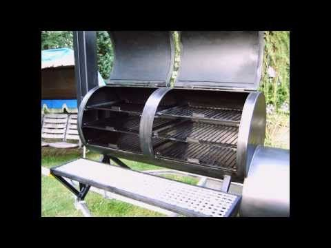 My Homemade Custom Barbecue Smoker, Build Your Own - YouTube