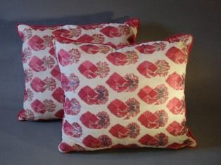A Pair of Gorgeous Silk Embroidered Indian Cushions, Sind, Early 20th C