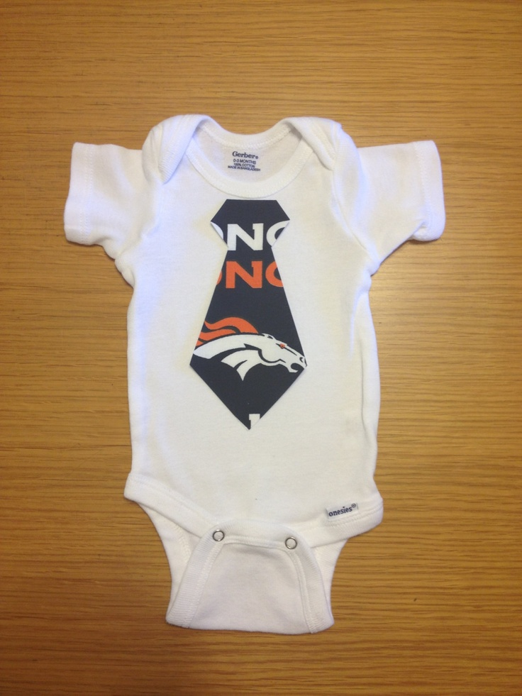 Denver Broncos NFL Onesie by BebeSucreOnline on Etsy, $15.00