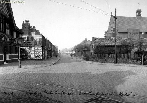 Moston Lane Kenyon Lane junction 1924