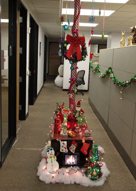 Office Christmas Pole Decorating Contest Holiday Pole