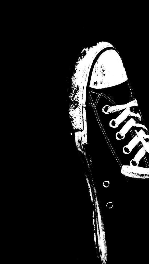 Wallp4k Funny Wallpaper Shoes Converse Black White Funny