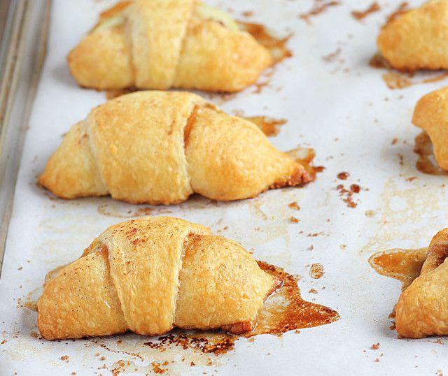parecem croissants, não parecem? mas são mini-tartes de maçã facílimas de fazer