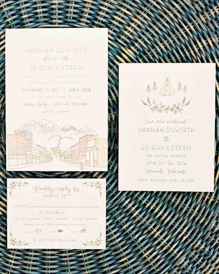 how to put guest names on wedding invitations%0A A Bohemian Wedding in Telluride  Colorado