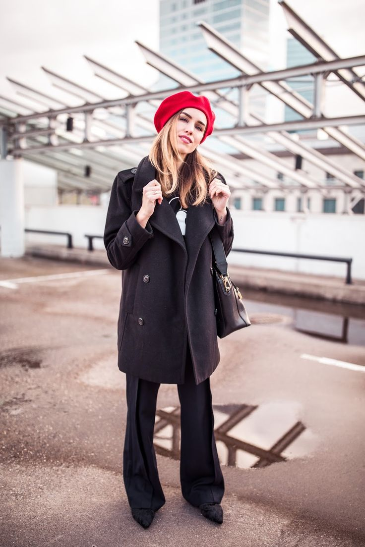 how to wear a beret french style