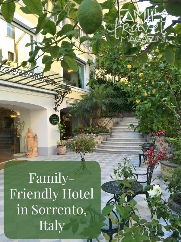Review of Grand Hotel La Favorita, a family-friendly hotel in Sorrento Italy within walking distance of the marina, shops, and restaurants.