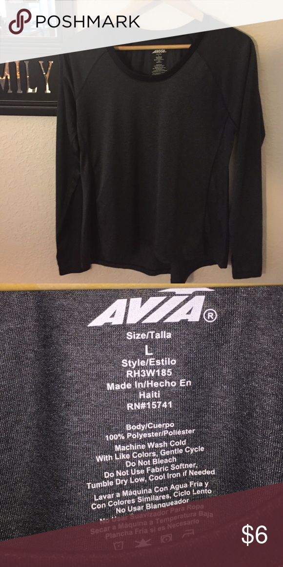 NWOT LADIES LONG SLEEVE WORK OUT TOP. Never worn light work out top, Avia Tops Tees - Long Sleeve