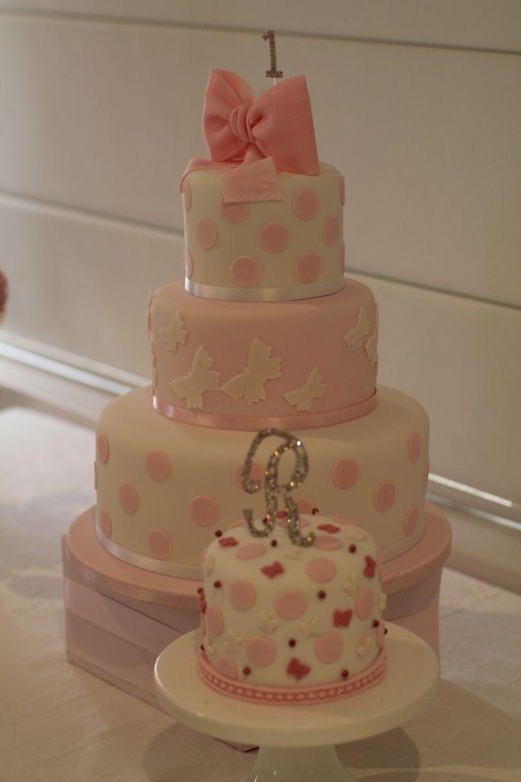 Butterfly Birthday Cake & Smashcake - My daughter's first birthday party