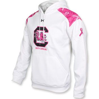 582204d7a78a ... South Carolina Gamecocks Under Armour Pride in Pink Hoodie - White gamecocks  Gamecocks Pinterest South carolina ...