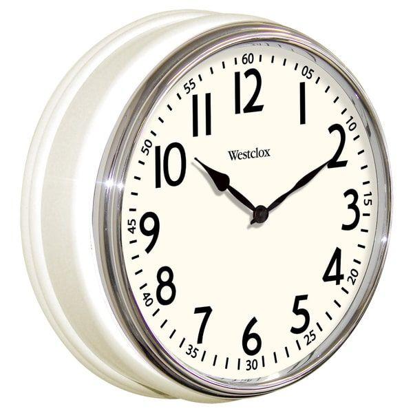 Westclox White Vintage Wall Clock