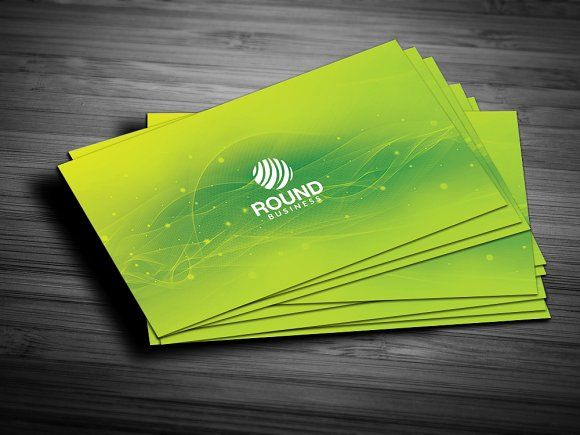 Green Colour Business Card Stylish Business Cards Business Card