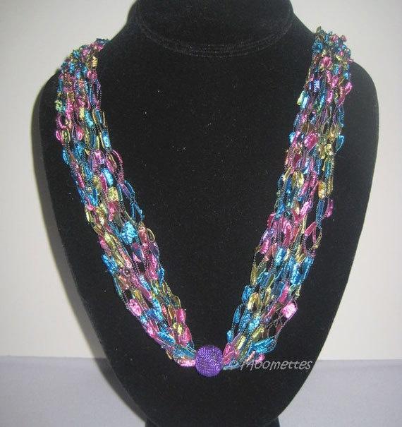 Boho Crochet Necklace Trellis #Necklace #Jewelry by MoomettesCrochet, $16.00