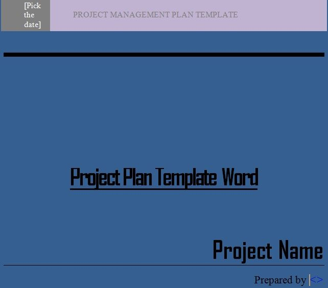 Get Project Plan Template Word  Projectemplates  Excel Project