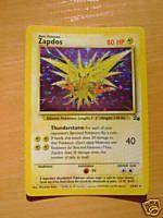 Pokemon Zapdos 15/62 Holo Card [Toy]