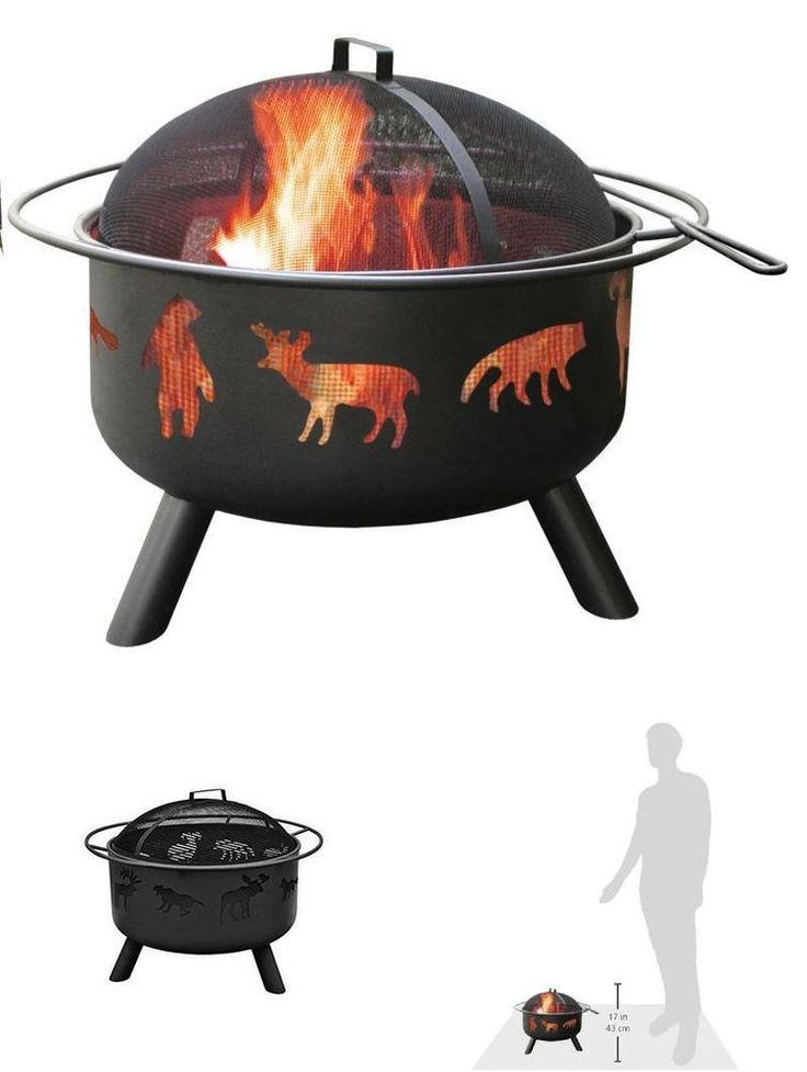 Outdoor Heater Fire Pit Wood Burning Bowl Screen Protector Wild Relax Garden #Landmann #fire,#pit,#garden,#yard,#patio,#set,#bbq,#outdoor,#wood,#burning,#bowl,#screen,#protector