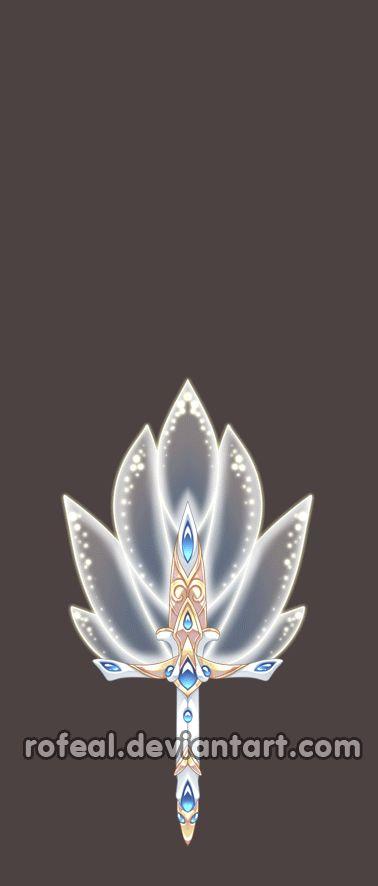 Un abanico de cristal tras las inyección de llamas se transforma en una espada…