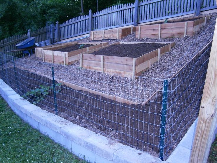 raised garden beds on sloped hill - Google Search
