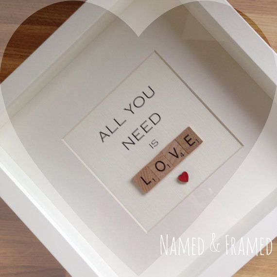 All You Need is LOVE scrabble frame by NamedFramed on Etsy