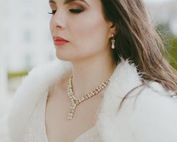 Teardrop Pearl, Crystal Clip-on Wedding Earrings, Gemma