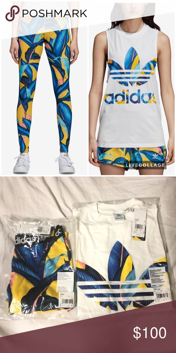 Adidas Originals Matching Set Tight n Tank Top💯 New with