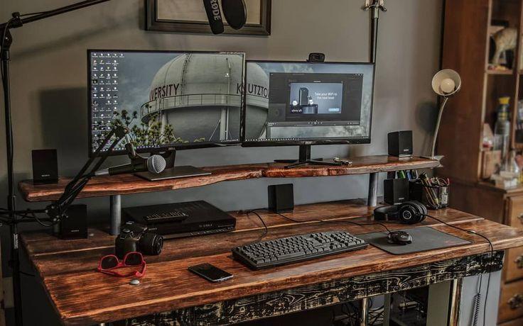 Timeless Design Shop Our High Grade Desk Accessories Link In Bio Rosewood Setups Battlestation Home Office Setup Work Station Desk Home Office Design