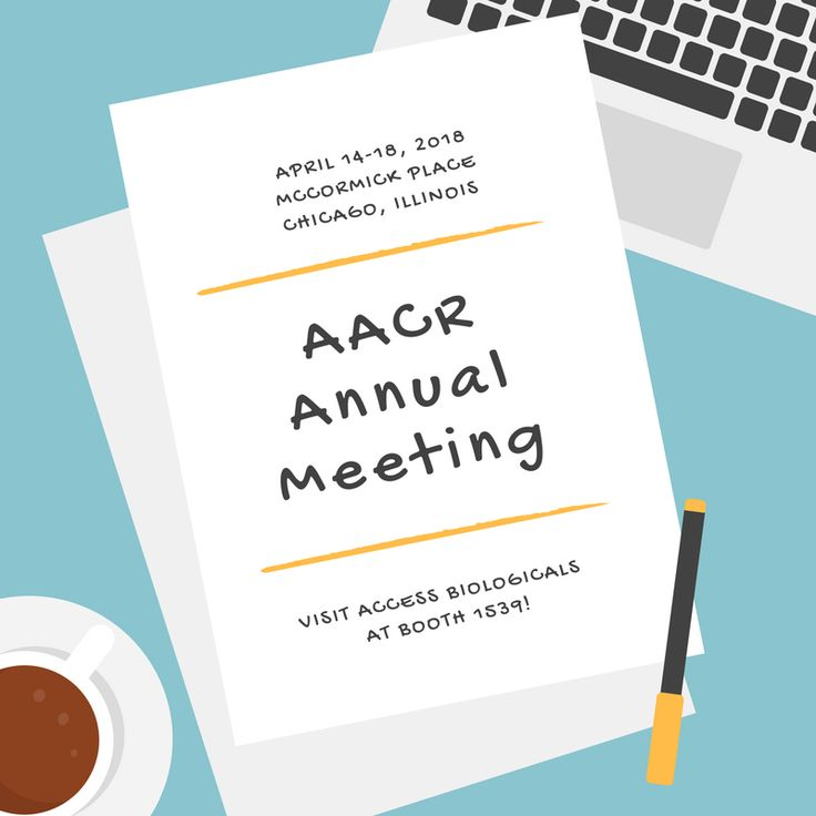 We're exhibiting at the #AACR18 Annual meeting! Hope to see you in Chicago!