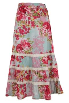 Long floral skirt by Orientique