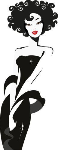 """Векторный клипарт """"Девушки, женщины, силуэты..."""" . Обсуждение на LiveInternet - Российский Сервис Онлайн-Дневников"""