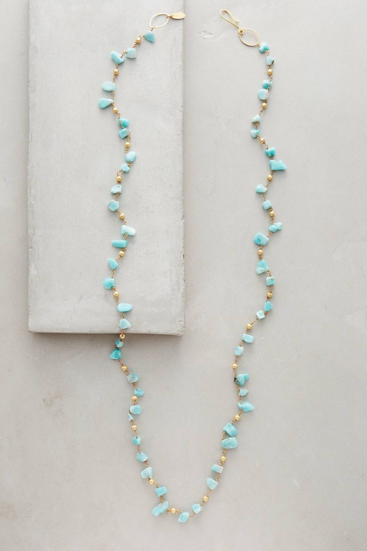 at anthropologie Byzas Necklace - Amazonite