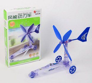Кэндис го пластиковая игрушка DIY ветер зеленый мощность мини-автомобиль движется ветряная мельница образования детей собрать модель творческий подарок на день рождения