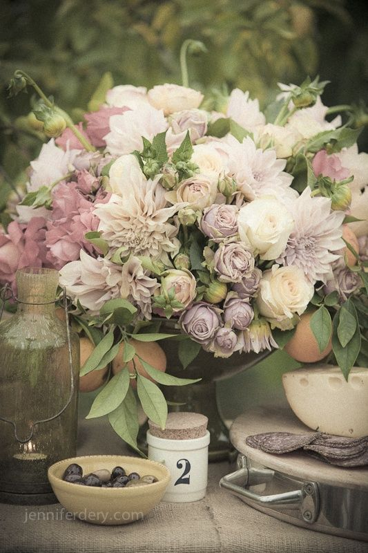 146 best lavender wedding theme images on pinterest for Pastel colored flower arrangements