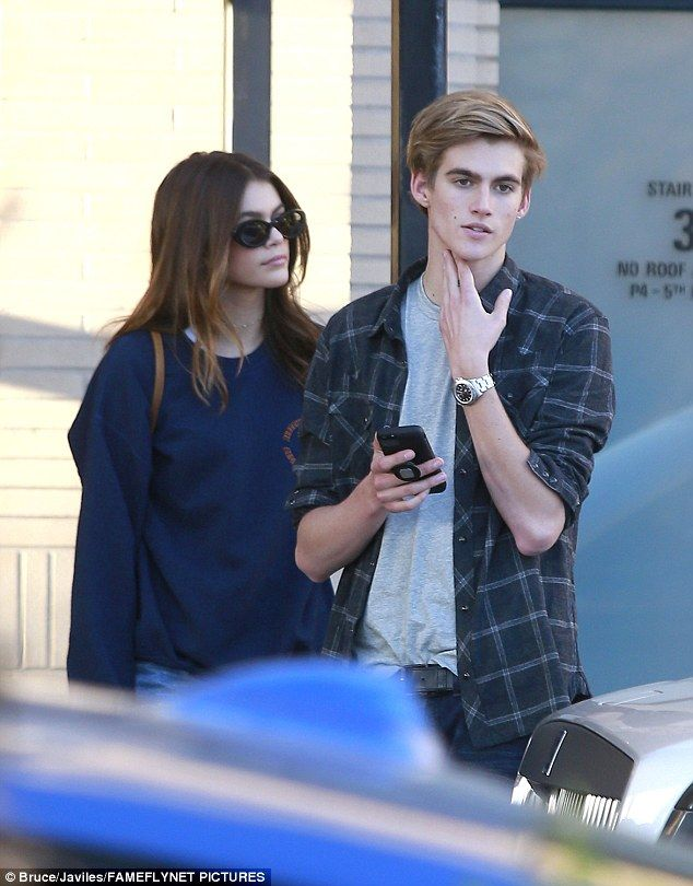 Sibling bonding: Kaia and Presley Gerber, the now-modeling children of 1990s icon Cindy Crawford, enjoyed a bit of family time together at the weekend