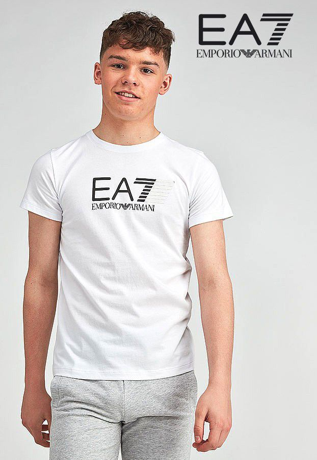 d3f668f16ea New Emporio Armani EA7 Junior Boys Designer White T-Shirt Top Age 10 11 12  13 14  ARMANI  TShirt