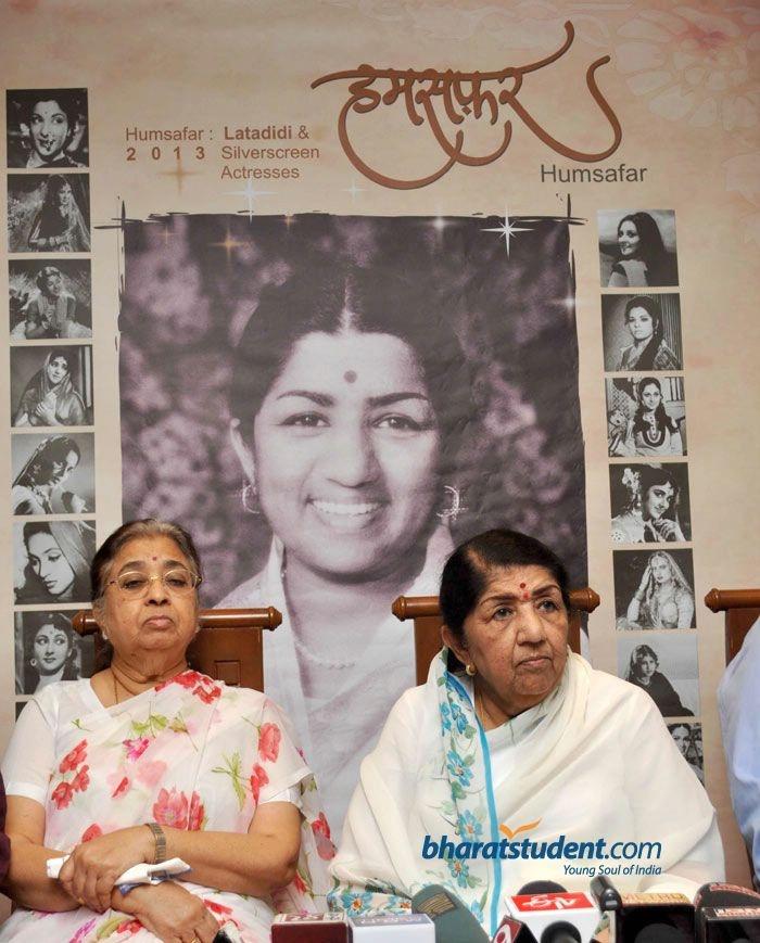 Lata Mangeshkar's Calendar 'Humsafar' 2013 Launch, Lata Mangeshkar, Usha Mangeshkar, Humsafar