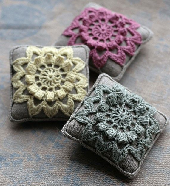 crochet scent pillows