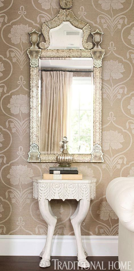 221 best images about powder rooms on pinterest for Fancy wallpaper for living room