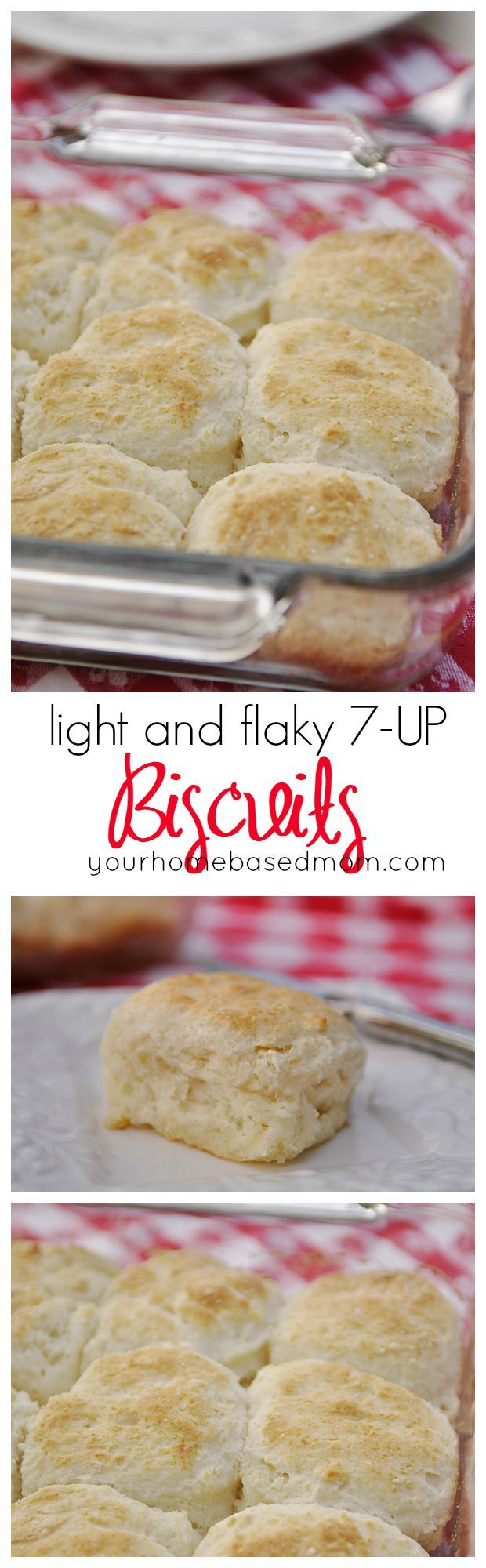 Light and Flaky Biscuits are made with 7-Up! Easy dinner roll recipe!