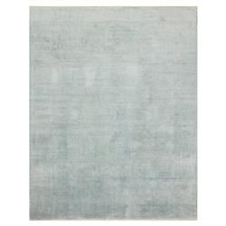 Faded Motif Sky Blue Bamboo Silk Rug - 4x6 | Kathy Kuo Home