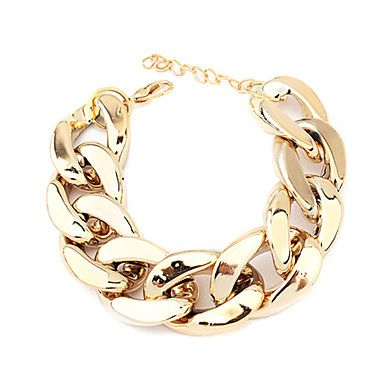 Wide Chunky Golden Chain Bracelet – BRL R$ 4,63