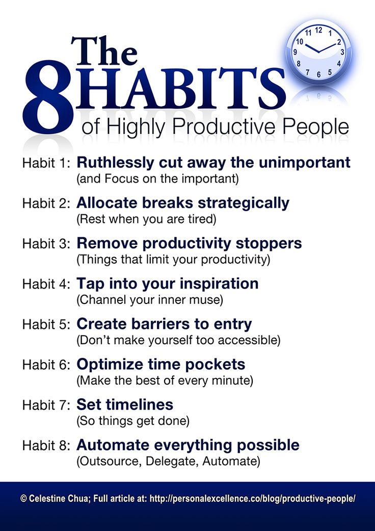8 Habits of Highly Productive People Manifesto #productivity