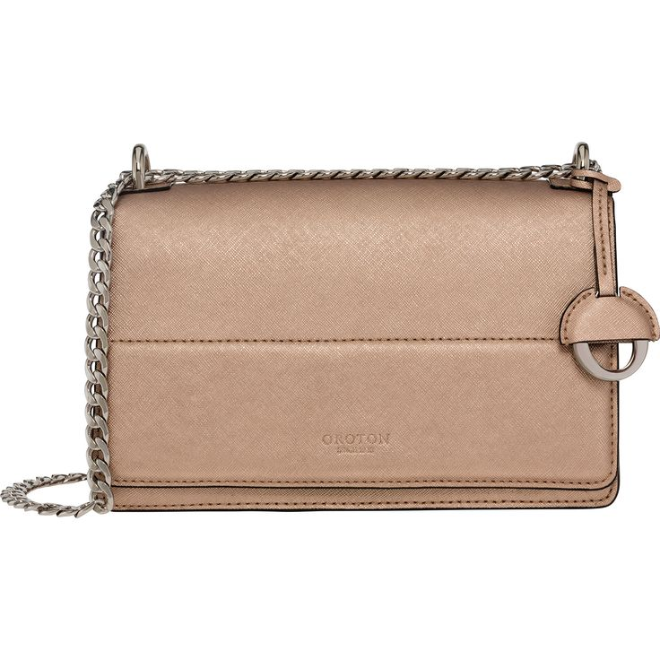 Forte Clutch Bag in Rose Gold // Oroton