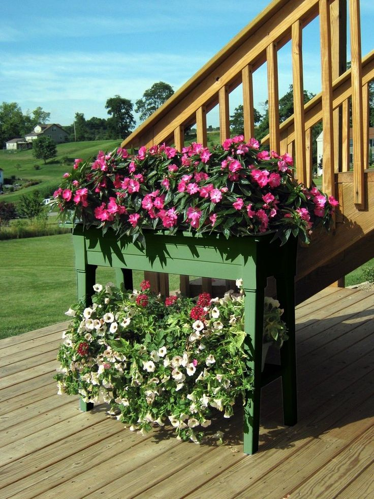 Flower Garden Planter Bed Outdoor Patio Deck Yard Herb Pot Gardening Box Raised