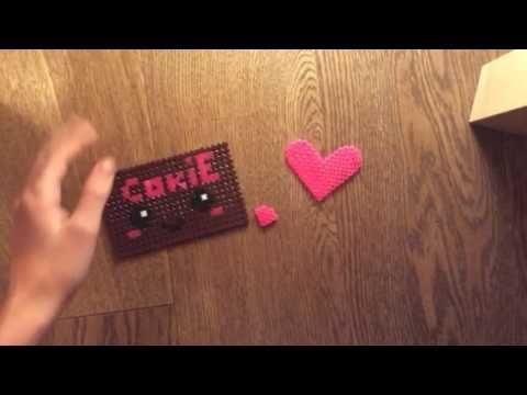 Cookie e cuoricini in pyssla per San Valentino #super romantico