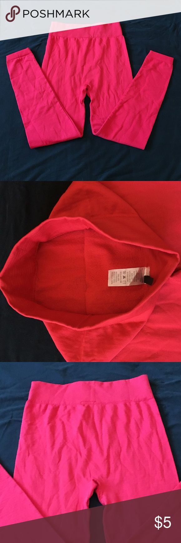 NWOT Red Leggings Thick red leggings. Warm fleece lining inside. Thick waist band. Never been worn. New Mix Pants Leggings